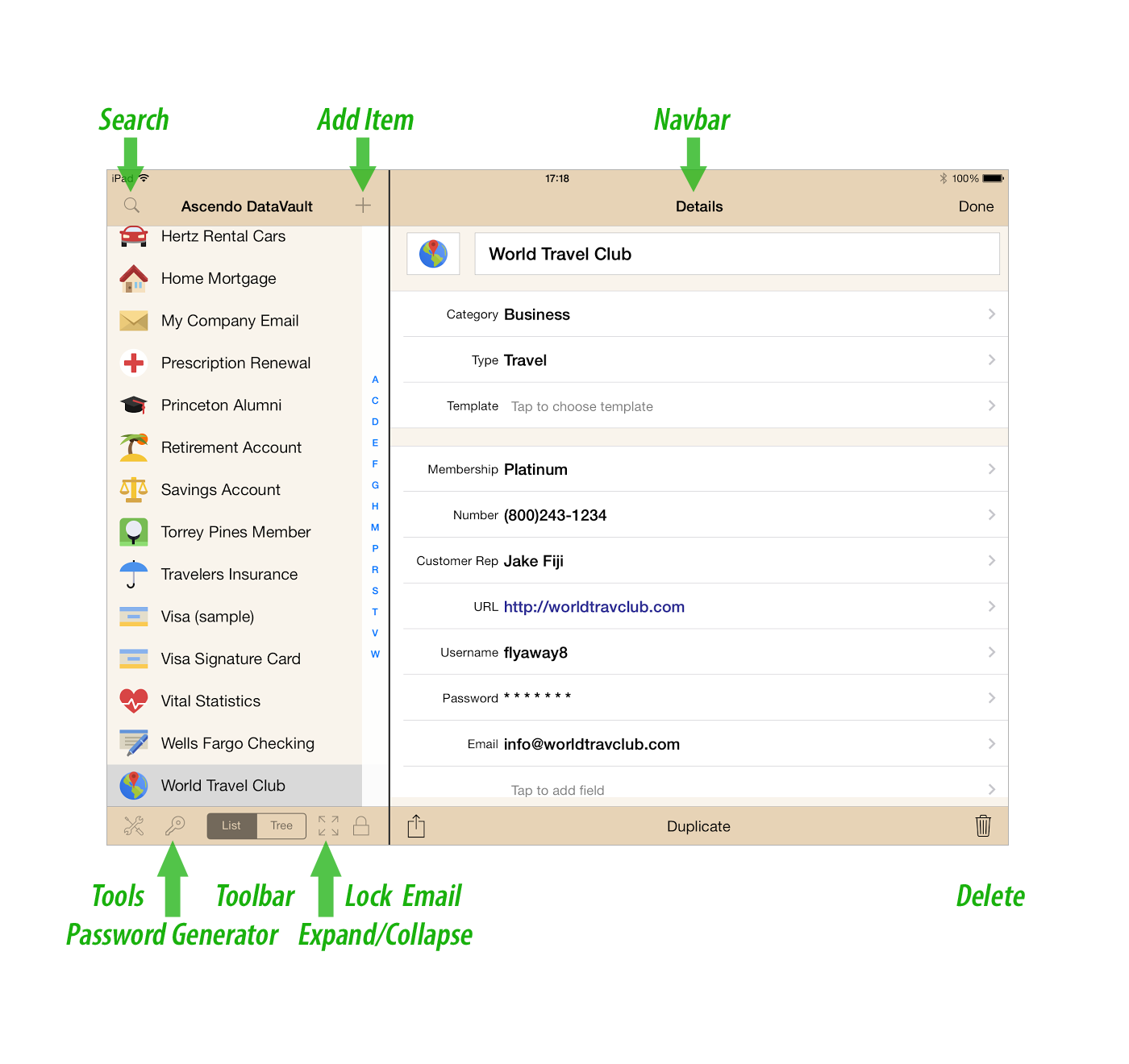 To Initiate Synchronization, Start Datavault Desktop And Select Ota Sync  From The File Menu Then Start Datavault On Your Iphone And Select Options  >